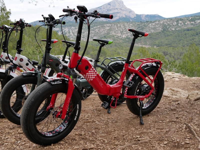 Vélo électrique : tour Cezanne en fat bike