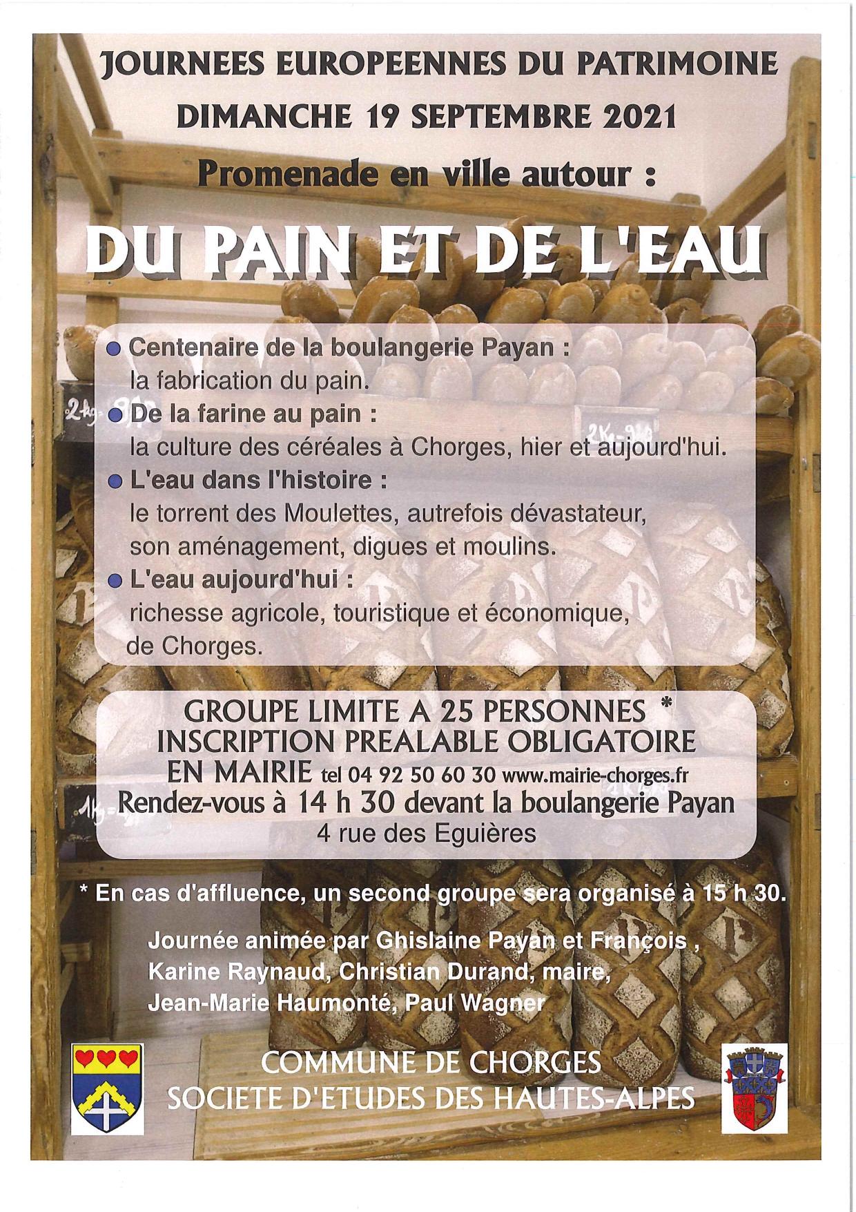 Journées Européennes du Patrimoine, Chorges